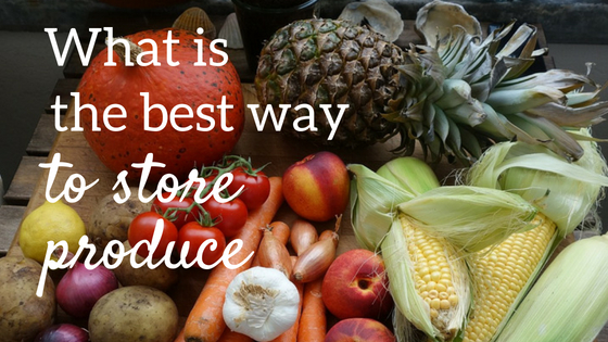 What is the best way to store produce