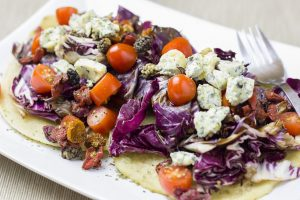Mixed salad with cheese as a clean eating lunch ideas