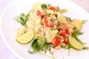 Healthy quinoa salad as clean eating lunch ideas