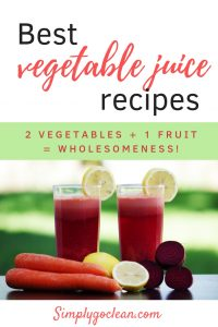 Great vegetable juice recipes