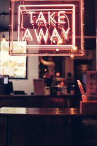 Take-away sign